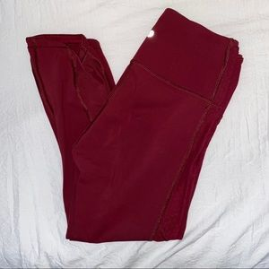 Maroon Lululemon Revitalize Crop
